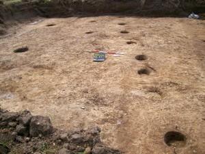 Podlaha neolitického domu