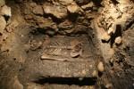 Ukázka skeletů z Piaristické koleje.