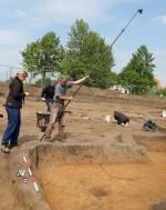 Příprava na fotogrammetrickou dokumentaci odkryté polozemnice