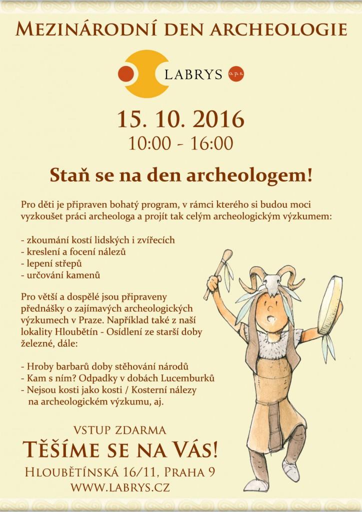 Mezinárodní den archeologie 2016, pozvánka